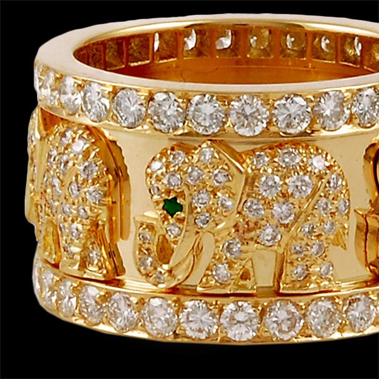 Cartier Diamond Elephant Ring In Good Condition For Sale In New York, NY
