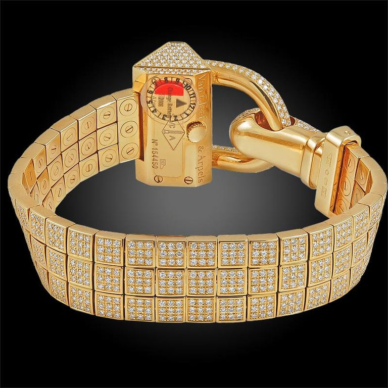 Van Cleef & Arpels Diamond Cadenas Watch For Sale 1