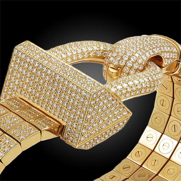 Women's Van Cleef & Arpels Diamond Cadenas Watch For Sale