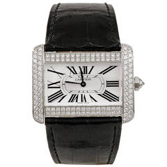 Cartier Diamond Tank Divan Wristwatch