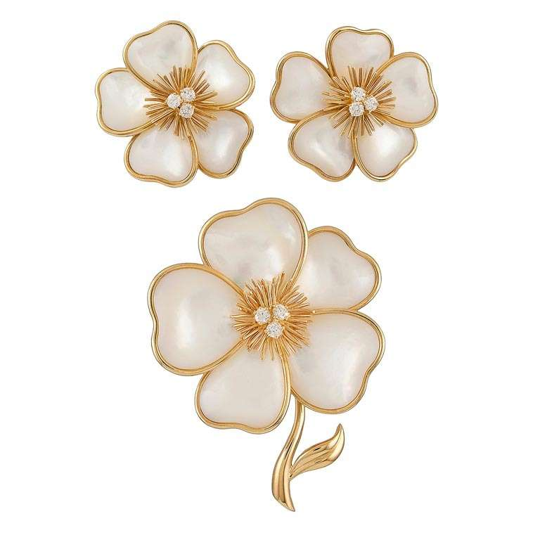 Van Cleef and Arpels Mother of Pearl Rose de Noel Suite