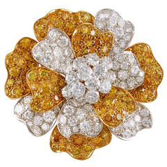 Van Cleef & Arpels Diamond Flower Brooch
