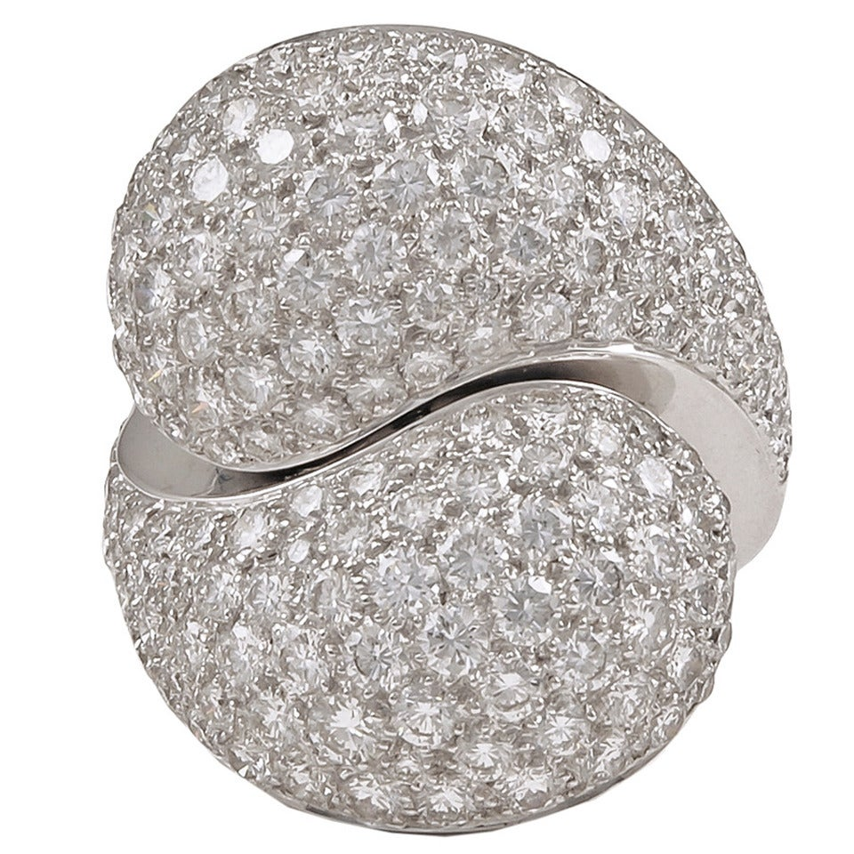 Cartier Diamond Crossover Ring