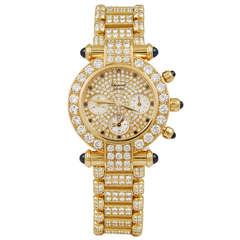 Chopard Ladies Gold Diamond Sapphire Watch