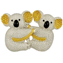 Graff Diamond Koala Brooch