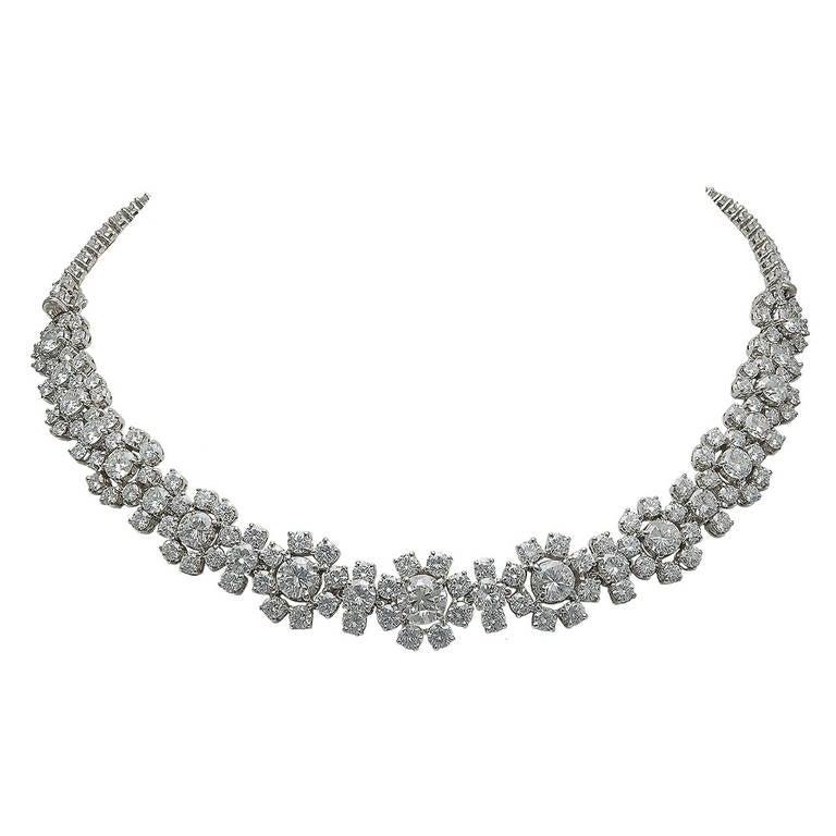 Van Cleef & Arpels Diamond Flower Necklace