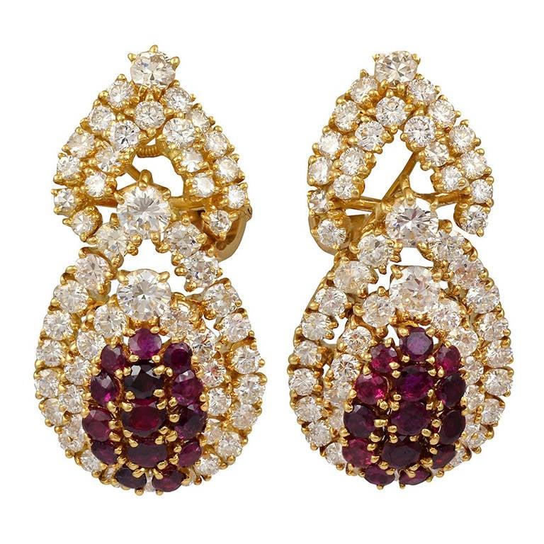 M. Gerard Ruby Diamond Earrings