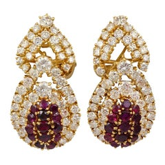 M. Gerard Ruby Diamond Earrings