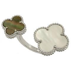 Van Cleef & Arpels Magic Alhambra Between Finger Stone Combination Ring