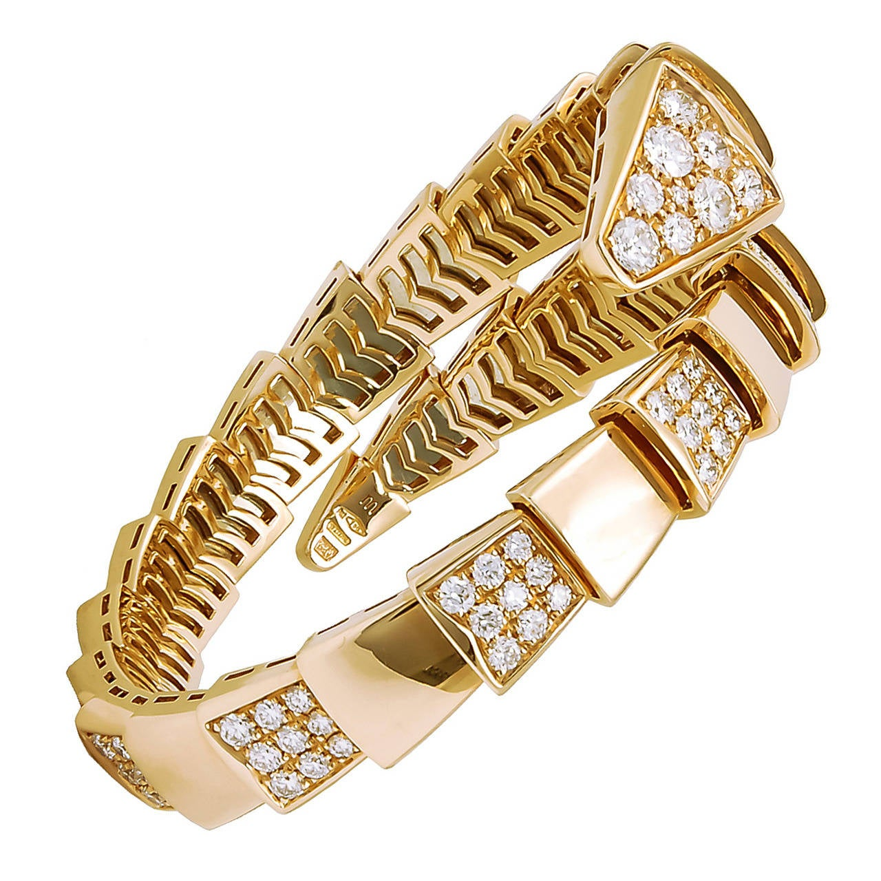 Bulgari Diamond Serpenti Bangle 1