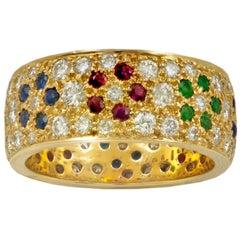 Van Cleef & Arpels Ruby Emerald Sapphire Ring