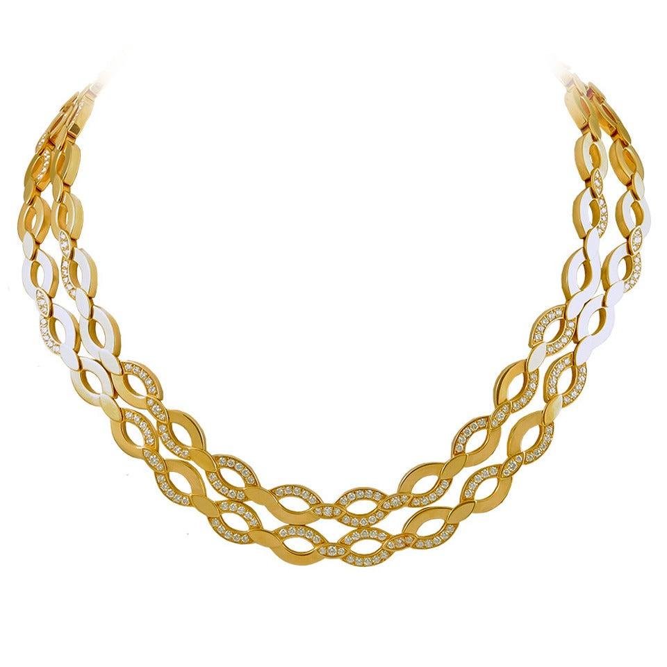 Cartier Diamond Gold Necklace