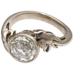 William Llewellyn Griffiths Diamond Victorian Style Ring with Swallows