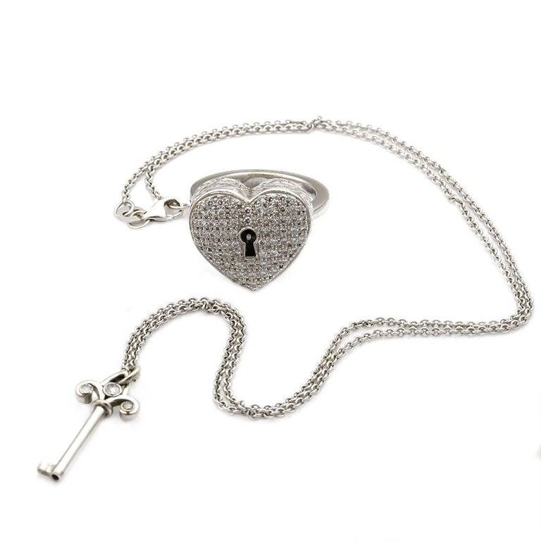 Diamond Heart Locket Victorian Poison Ring For Sale 1