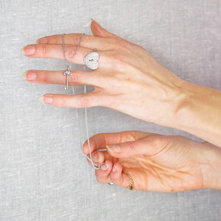 Diamond Heart Locket Victorian Poison Ring For Sale 2