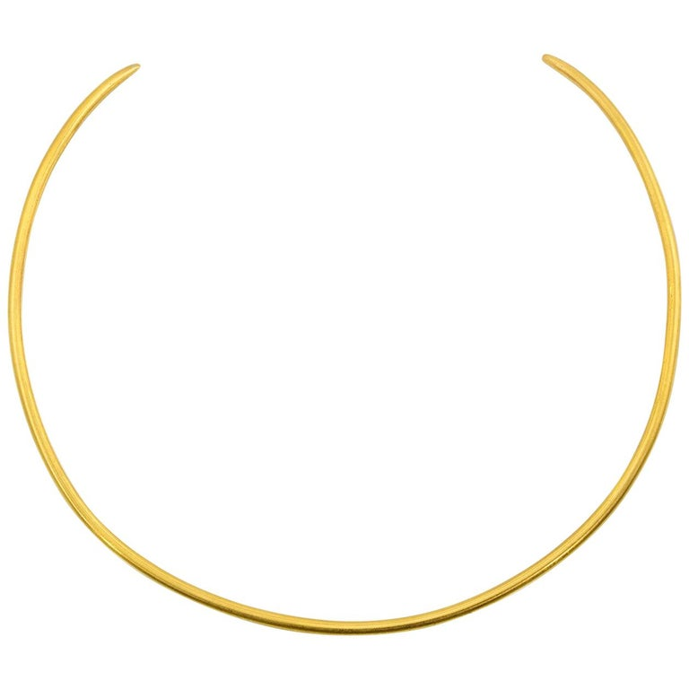 Solid 22-karat gold collar/choker necklace