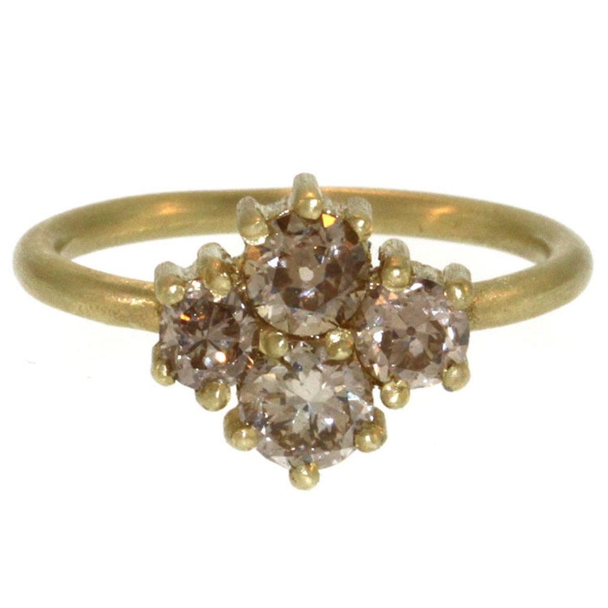 gold cluster engagement ring at 1stdibs