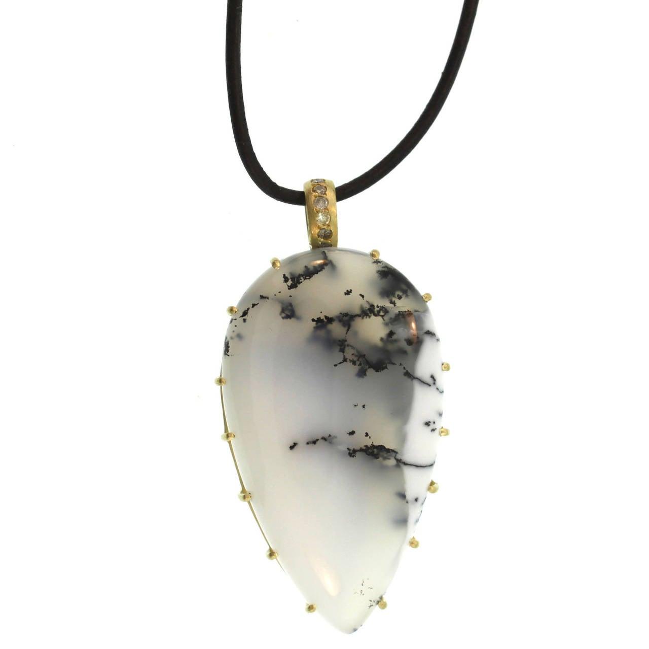 chalcedony pendant at 1stdibs