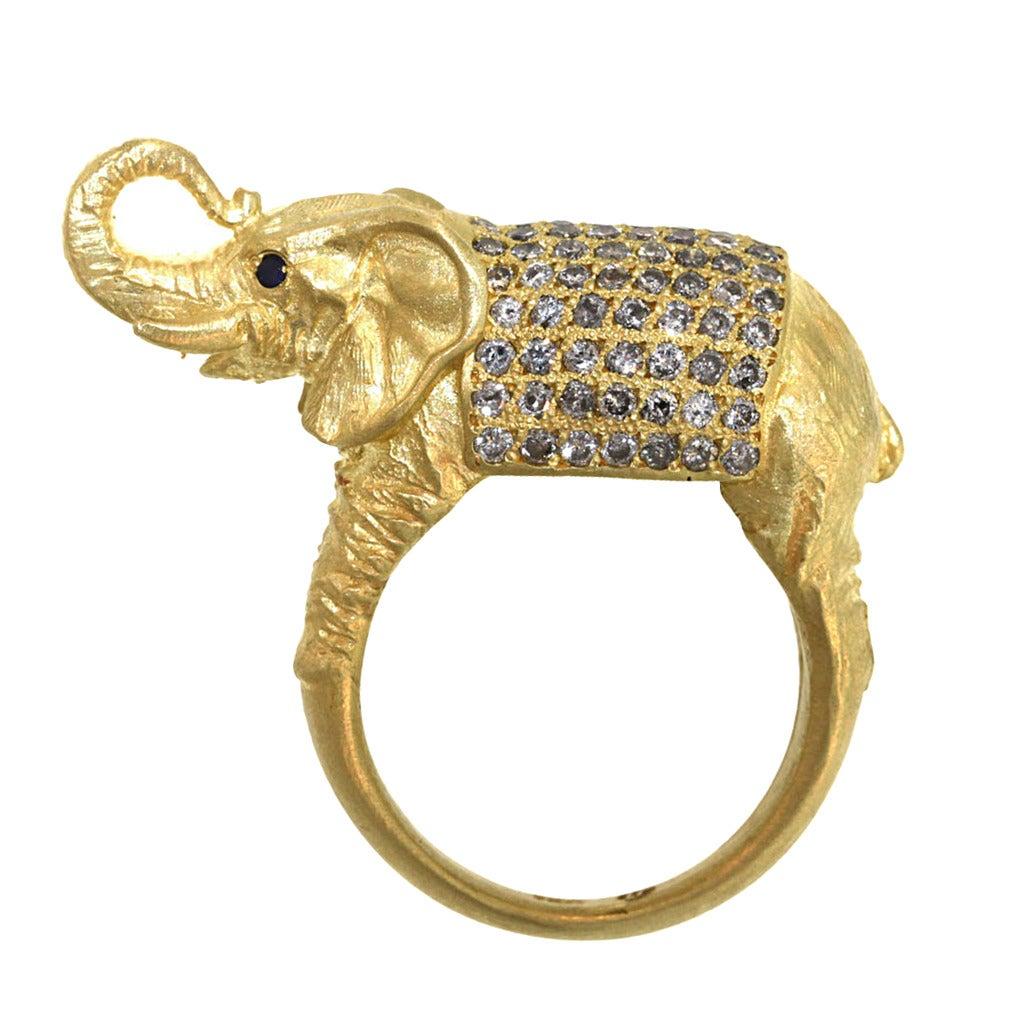 Diamond Elephant Ring At 1stdibs