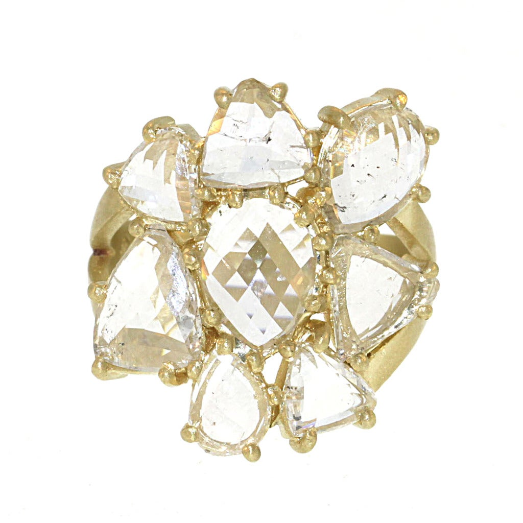 Diamond Flower Cluster Ring at 1stdibs