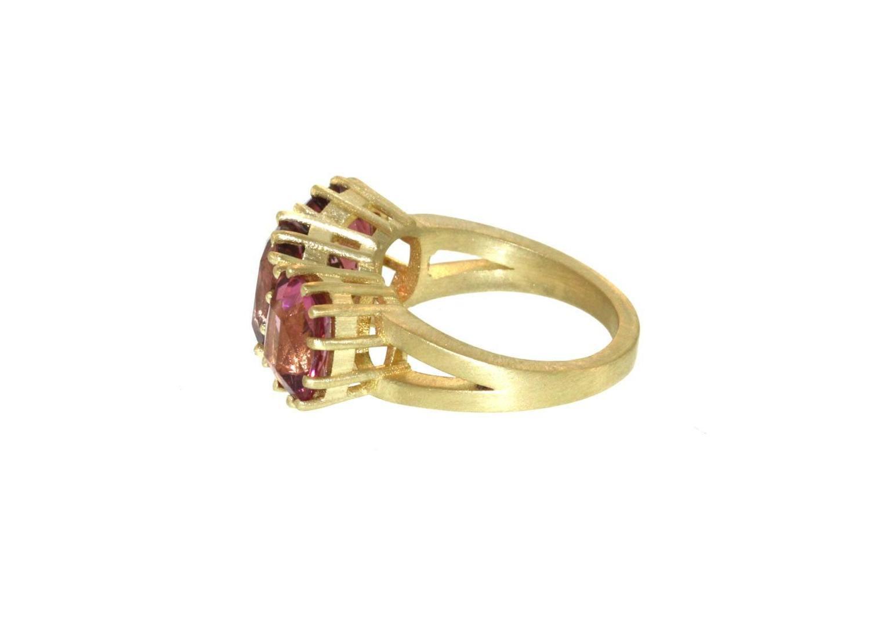 pink tourmaline gold ring at 1stdibs