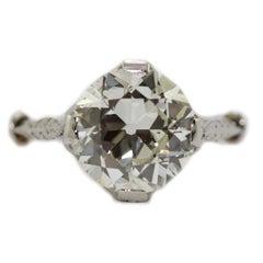 2.5 Carat Single Stone Edwardian Diamond Engagement Ring
