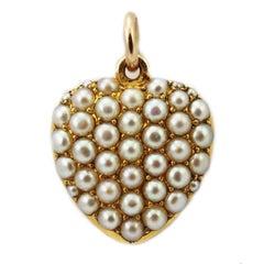 Victorian Natural Pearl Locket Pendant