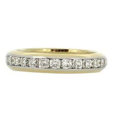 Tiffany & Co 18 ct yellow gold and platinum diamond full eternity Lucida ring