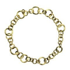 Marco Bicego 18 Karat Yellow Gold Jaipur Link Gauge Collar Choker Necklace