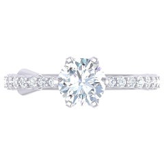 GIA Certified 18 Karat White Gold and 1.53 Carat Diamond Ring by Alessa