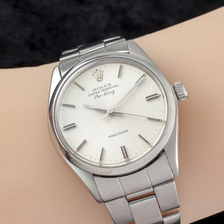 Rolex Air King Oyster Perpetual SS Men's Automatic Watch 5500 1979 For Sale 1