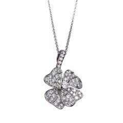 White Diamonds Platinum Rhodium-Plated Sterling Silver Pendant Necklace