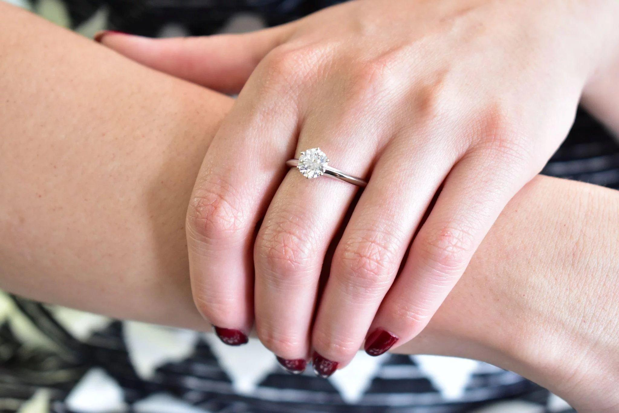 Tiffany and Co. 1.35 Carat Diamond and Platinum Solitaire Engagement ...