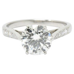 Gorgeous 1.87 CTW Diamond & Platinum Alternative Ring GIA Certified