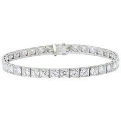 Waslikoff 7.20 Carat Diamond and Platinum Line Tennis Bracelet