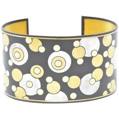 Tiffany & Co. Angela Cummings Black Lacquer Iron 24 Karat Gold Cuff Bracelet