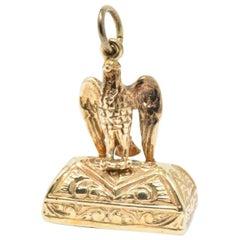 Untouched Victorian Carnelian 9 Karat Gold Fob