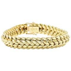 1970s Cartier 18 Karat Yellow Gold Unisex Bracelet Swiss