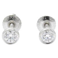 Tiffany & Co. .46 Carat Diamond Platinum Stud Earrings Elsa Peretti