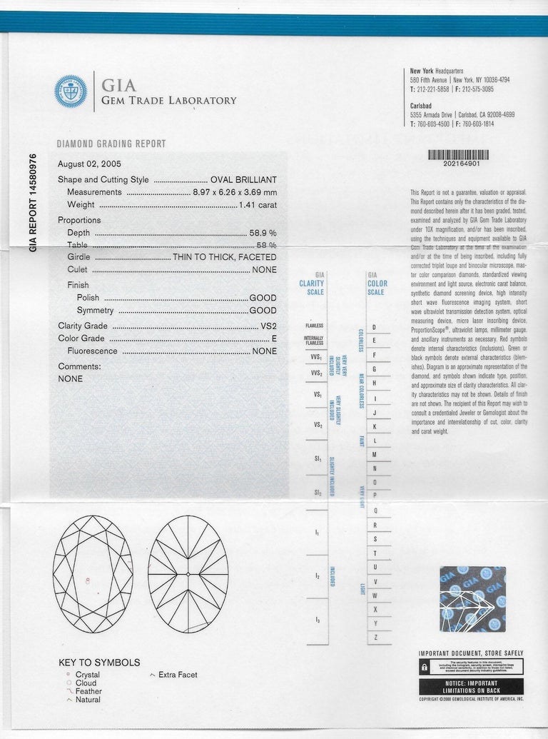 Cartier 1.96 CTW Diamond & Platinum Alternative Ring With Original Box, GIA For Sale 3