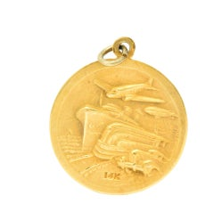 1933 World's Fair Pendant 14 Karat Gold