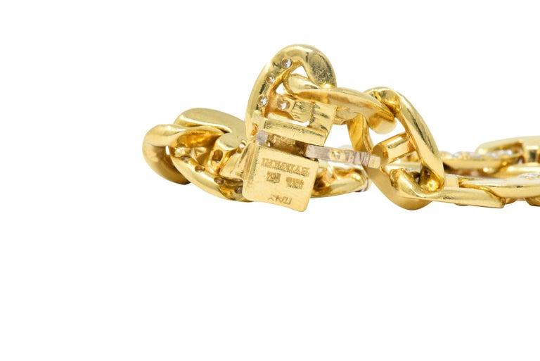 Bulgari Contemporary 2.10 Carat Diamond 18 Karat Gold Link Bracelet For Sale 2