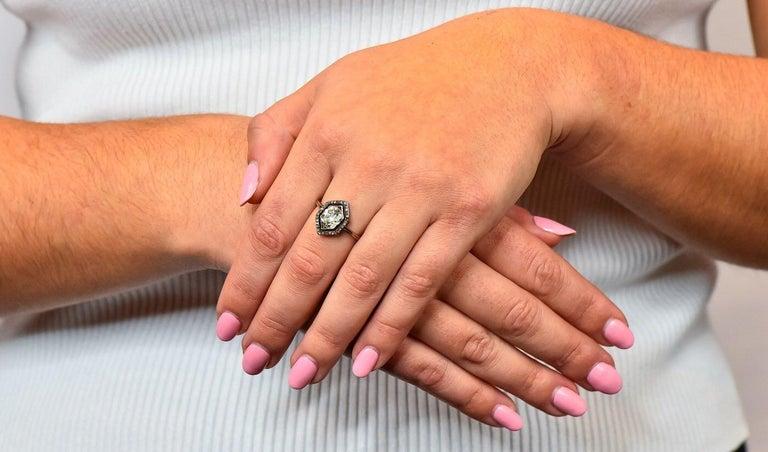 Georgian 2.00 Carat Diamond Silver-Topped 14 Karat Gold Engagement Ring, 1800 For Sale 7