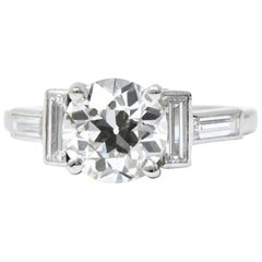 Cartier 1930's 2.02 CTW Diamond & Platinum Alternative Ring, GIA Certified