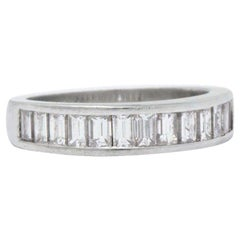 1.10 Carat Diamond and Platinum Eternity Band Style Stackable Ring