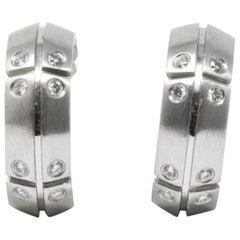 Pair of Tiffany & Co. Diamond  18K White Gold Earrings, Streamerica, CA 2000
