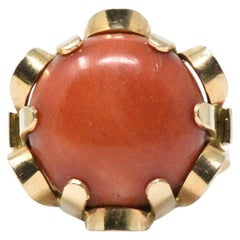Contemporary Coral 14 Karat Gold Ring, Poland