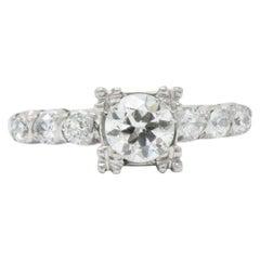 Mid-Century .80 CTW Mid-Diamond Platinum Alternative Engagement Ring