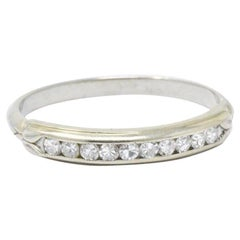 Sparkling .20 CTW Diamond & 14K White Wedding Band Stackable Ring