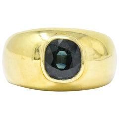 Vintage 2.25 Carat Color-Change Sapphire 18 Karat Gold Unisex Ring